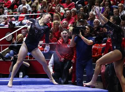 University of Utah Gymnastics vs UCLA on 02-21-2015 at the Jon M Huntsman Center. Red Rocks beat the Cardinal 198.050-195.900