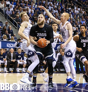 Brigham Young University Men's Basketball vs Gonzaga University at Marriot Center 02-02-2017. The Cougars lose to the Bulldogs 75-85. ©2016 Bryan Byerly   #gocougars  #byuhoops