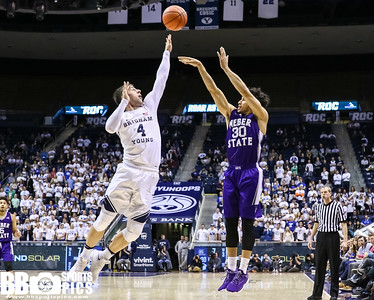 Brigham Young University Men's Basketball vs Weber State University at Marriot Center 12-7-2016. The Cougars defeat the Wildcats77-66. ©2016 Bryan Byerly   #gocougars  #byuhoops  #weberstate  #weareweber
