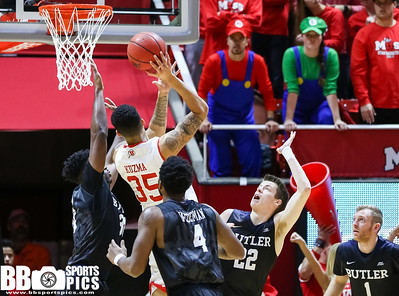 University of Utah Men's Basketball vs Butler at Jon M Huntsman Center 11-28-2016. The Utes lose to the Bulldogs 59-68. ©2016 Bryan Byerly   #goutes #gamedayu