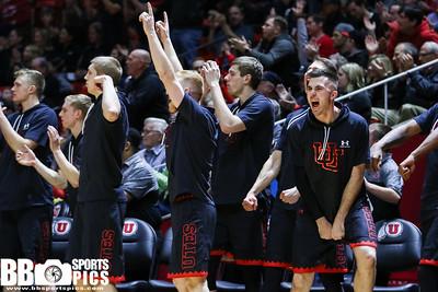 University of Utah Men's Basketball vs California at Jon M Huntsman Center 03-02-2017. The Utes defeat the Golden Bears 74-44. ©2017 Bryan Byerly  #goutes #gamedayu