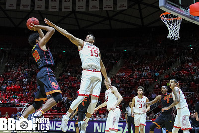 University of Utah Men's Basketball vs USC at Jon M Huntsman Center 01-12-2017. The Utes defeat the Trojans 86-64. ©2017 Bryan Byerly  #goutes #gamedayu
