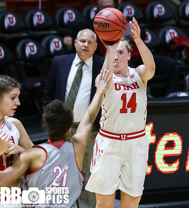 University of Utah Women's Basketball vs Southern Utah University at Jon M. Huntsman Center on 11-30-2016. the Utes defeat the Thunderbirds 69-43. ©2016 Bryan Byerly  #goutes  #elevate  #suu #tbirdnation
