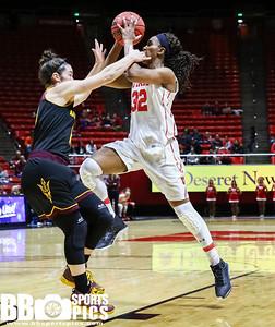 University of Utah Women's Basketball vs Arizona State University at Jon M. Huntsman Center on 01-06-2017. The Utes lose to the Sundevils 44-66. ©2017 Bryan Byerly  #goutes  #elevate