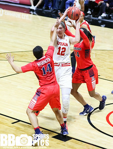 University of Utah Women's Basketball vs Arizona University at Jon M. Huntsman Center on 01-08-2017. The Utes lose to the Wildcats 70-81. ©2017 Bryan Byerly  #goutes  #elevate