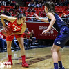 University of Utah Women's Basketball vs Brigham Young University at Jon M. Huntsman Center on 12-10-2016. The Utes defeat the Cougars 77-60. ©2016 Bryan Byerly  #goutes  #elevate  #byu #byuhoops #deseretfirstduel