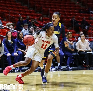 University of Utah Women's Basketball vs University of California at Jon M. Huntsman Center on 01-15-2017. The Utes defeat the Golden Bears 63-57. ©2017 Bryan Byerly  #goutes  #elevate