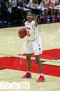 University of Utah Women's Basketball vs Colorado at Jon M. Huntsman Center on 01-28-2017. The Utes defeat the Buffaloes 58-53. ©2017 Bryan Byerly  #goutes  #elevate