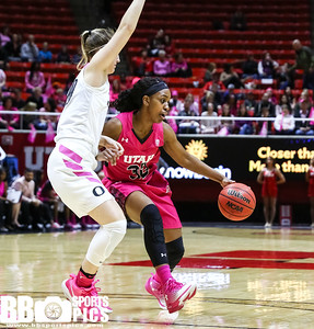 University of Utah Women's Basketball vs Oregon at Jon M. Huntsman Center on 02-17-2017. The Utes lose to the Ducks 61-73. ©2017 Bryan Byerly  #goutes  #elevate