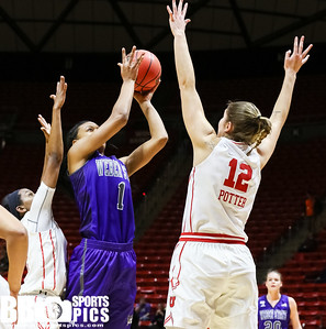 University of Utah Women's Basketball vs Weber State University at Jon M. Huntsman Center on 12-17-2016. The Utes defeat the Wildcats 71-52. ©2016 Bryan Byerly  #goutes  #elevate  #weberstate  #weareweber