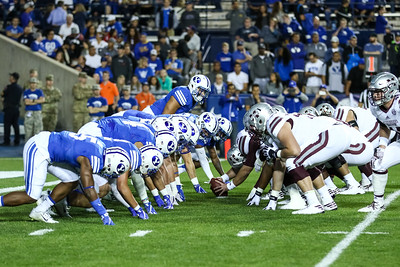 BYU versus Mississippi State at LaVell Edwards Stadium on 10-14-2016. The Cougars defeat the Bulldogs 28-21 in 2OT. #byu #byufootball #gocougs   #MSSTvsBYU  ©2016 Bryan Byerly