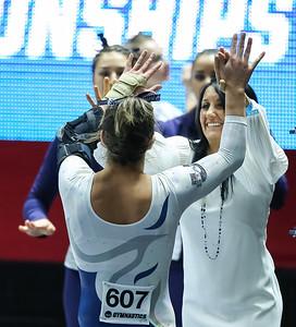 2016 NCAA Gymnastics Salt Lake City Regional at the Jon M. Huntsman Center 04-02-2016. Utah and UCLA took 1st and 2nd. Other teams compteting were Washington, Southern Utah, Utah State, Illinois.