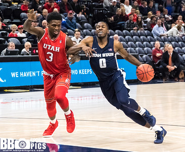 Beehive Classic - University of Utah vs Utah State at the Vivint Smart Home Arena on 12-09-2017. The Utes defeat the Aggies 77-67.    ©2017 Bryan Byerly