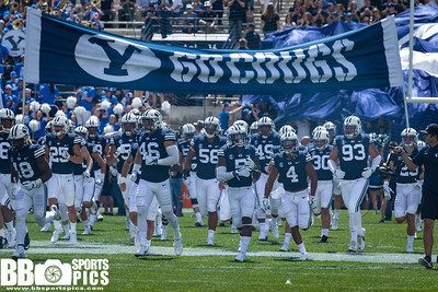 Brigham Young University vs Portland State University at LaVell Edwards Stadium in Provo, Utah. The Cougars defeat the Vikings 6 - 20. #BYUFOOTBALL  #PRSTvsBYU  #GoCougs  ©2017 Bryan Byerly