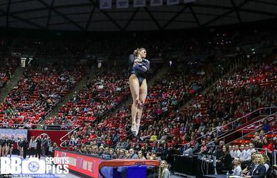 Utah Gymnastics vs California at Jon M. Huntsman Cneter 02-04-2017. The Utes defeat the Golden Bears 196.450-195.725. #goutes #RedRocks  #Flip4U   ©2017  Bryan Byerly