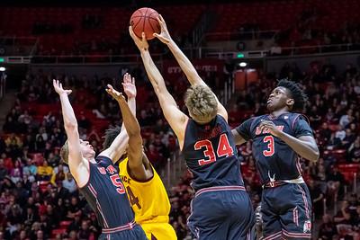 University of Utah vs Arizona State in Salt Lake City at Jon M. Huntsman Center. 02-16-2019. The Utes lose to the Sun Devils 87-98. ©2019 Bryan Byerly