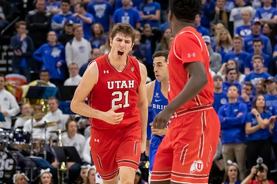 Beehive Classic - University of Utah vs BYU in Salt Lake City at Vivint Smart Home Arena. 12-08-2018. The Cougars defeat the Utes 74-59. ©2018 Bryan Byerly