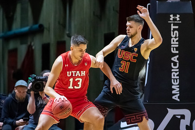 University of Utah vs USC in Salt Lake City at Jon M. Huntsman Center. 03-07-2019. The Utes defeat the Bruins 83-74. ©2019 Bryan Byerly