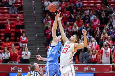 University of Utah vs Maine in Salt Lake CIty at Jon M. Huntsman Center. The Utes defeat the Black Bears 75-61. ©2018 Bryan Byerly