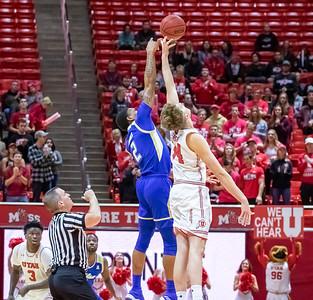 University of Utah vs Tulsa in Salt Lake City at Jon M. Huntsman Center. 12-01-2018. The Utes defeat the Golden Hurricane 69-64. ©2018 Bryan Byerly