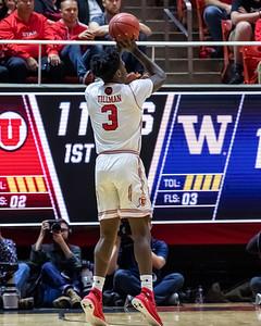 University of Utah vs Washington in Salt Lake City at Jon M. Huntsman Center. 01-10-2019. The Utes lose to the Huskies 53-69. ©2019 Bryan Byerly