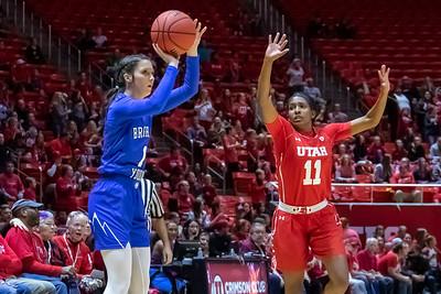 University of Utah vs BYU in Salt Lake City at Jon M. Huntsman Center. 12-08-2018. The Utes defeat the Cougars 78-67. ©2018 Bryan Byerly