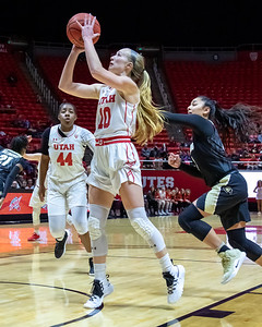 University of Utah vs Colorado in Salt Lake City at Jon M. Huntsman Center. 01-18-2019. The Utes defeat the Buffaloes 78-59. ©2019 Bryan Byerly