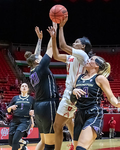 University of Utah vs Washington in Salt Lake City at Jon M. Huntsman Center. 02-22-2019. The Utes defeat the Huskies 88-56. ©2019 Bryan Byerly