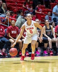 University of Utah vs Washington State in Salt Lake City at Jon M. Huntsman Center. 02-24-2019. The Utes defeat the Cougars 75-67. ©2019 Bryan Byerly