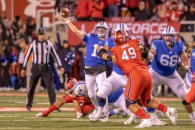 University of Utah vs BYU at Rice Eccles Stadium in Salt Lake City, UT 11-24-2018. The Utes defeat the Cougars 35-27. ©2018 Bryan Byerly