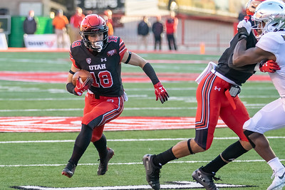 University of Utah vs Oregon at Rice Eccles Stadium in Salt Lake City, UT 11-10-2018. The Utes defeat the Ducks 32-25. ©2018 Bryan Byerly