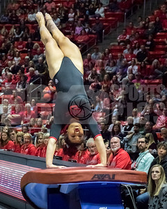 University of Utah Gymnastics vs Arizona State at the Jon M. Huntsman Center on 02-09-2018. The Red Rocks defeat the Sun Devils 197.075 - 195.400. #goutes  #Pac12Gym  #RedRocks  #Flip4U   ©2018  Bryan Byerly