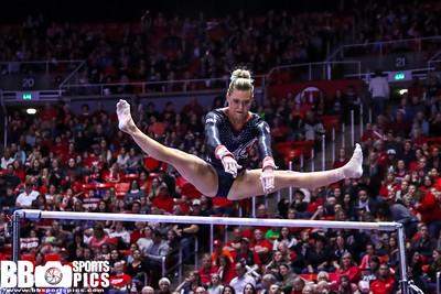 University of Utah Gymnastics vs Georgia at the Jon M. Huntsman Center on 03-16-2018. The Red Rocks defeat the Bulldogs 198.150 - 196.350. #goutes  #Pac12Gym  #RedRocks  #Flip4U   ©2018  Bryan Byerly