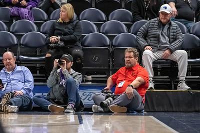 Salt Lake City, UT - Saturday December 14, 2019: Beehive Classic College Mens Basketball . Weber State vs University of Utah at Vivint Smart Home Arena ©2019 Bryan Byerly