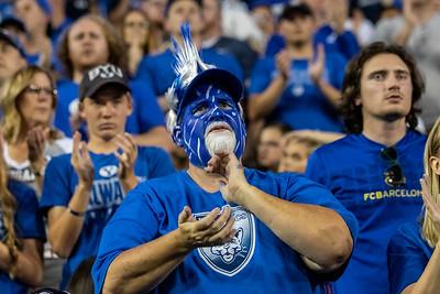 Sandy, UT - Thursday August 29, 2019: College Football. University of Utah vs BYU. ©2019 Bryan Byerly