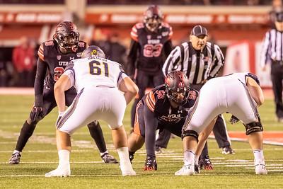 Salt Lake City, UT - Saturday October 26, 2019: College Football. University of Utah vs California at Rice-Eccles Stadium. ©2019 Bryan Byerly