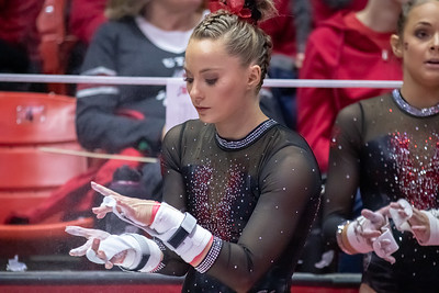 Utah Gymnastics versus UCLA in Salt Lake CIty at the Jon M. Huntsman Center. 02-23-2019. The Red Rocks lose to the Bruins 197.625 - 198.025. ©2019 Bryan Byerly