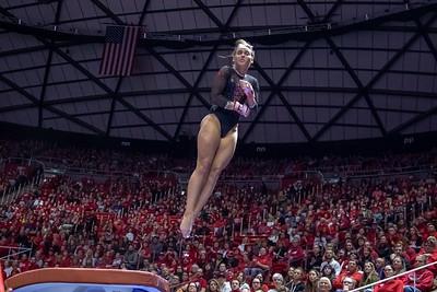 Utah Gymnastics versus UCLA in Salt Lake CIty at the Jon M. Huntsman Center. 02-23-2019. The Red Rocks lose to the Bruins 197.625 - 198.025. ©2019 Bryan Byerly