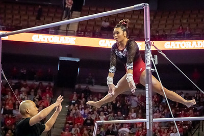 Utah Gymnastics at PAC-12 Championships in West Valley City at the Maverik Center. 03-23-2019. The Red Rocks place 2nd in the PAC-12 Championships with a 198.025 ©2019 Bryan Byerly