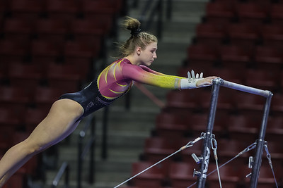 West Valley City, UT - Friday April 02, 2021: NCAA Gymnastics. Salt Lake Regional Qualifying Session 1 at Maverik Center. ©2021 Bryan Byerly/Utah Athletics