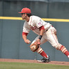 OU infielder Jack Mayfield tosses the ball to second on a double play during the Sooners' game against Samford Saturday at L. Dale Mitchell Park.<br /> Kyle Phillips/The Transcript