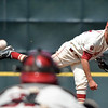 OU's Damien Magnifico pitches to a Samford batter during the Sooners' game against the Bulldogs Saturday at L. Dale Mitchell Park.<br /> Kyle Phillips/The Transcript