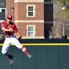 Oklahoma infielder Jack Mayfield throws the ball to first after picking up a ground ball Tuesday during the Sooners' game against Arkansas Pine Bluff at L. Dale Mitchell Park.<br /> Kyle Phillips/The Transcript