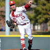 OU's Dillon Overton pitches to a batter during the Sooners' game against Hofstra Friday at L. Dale Mitchell Park.<br /> Kyle Phillips/The Transcript