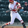 OU's Matt Oberste makes contact with the ball during his turn at bat during the Sooners' game against Hofstra Friday at L. Dale Mitchell Park.<br /> Kyle Phillips/The Transcript
