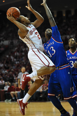 OU Mens basketball vs Kansas