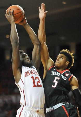 OU men's basketball vs Texas Tech