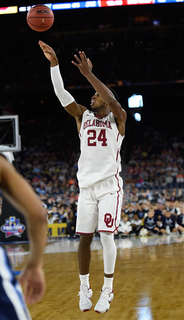OU's Buddy Hield puts up a shot during the Sooners' loss to Villanova, Saturday, Apr. 2, 2016, during their game in the Final Four in Houston, Tx. (Kyle Phillips / The Trasncript)