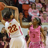 Oklahoma guard Aaryn Ellenberg (3) guards Iowa State's Btynn Williamson Thursday during the Sooners' game against the Cyclones at the Lloyd Noble Center in Norman, Okla..<br /> Kyle Phillips/The Transcript
