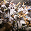 Texas A&M players celebrate their win over the University of Oklahoma during the COtton Bowl Friday at Cowboy's Stadium.<br /> Kyle Phillips/The Transcript